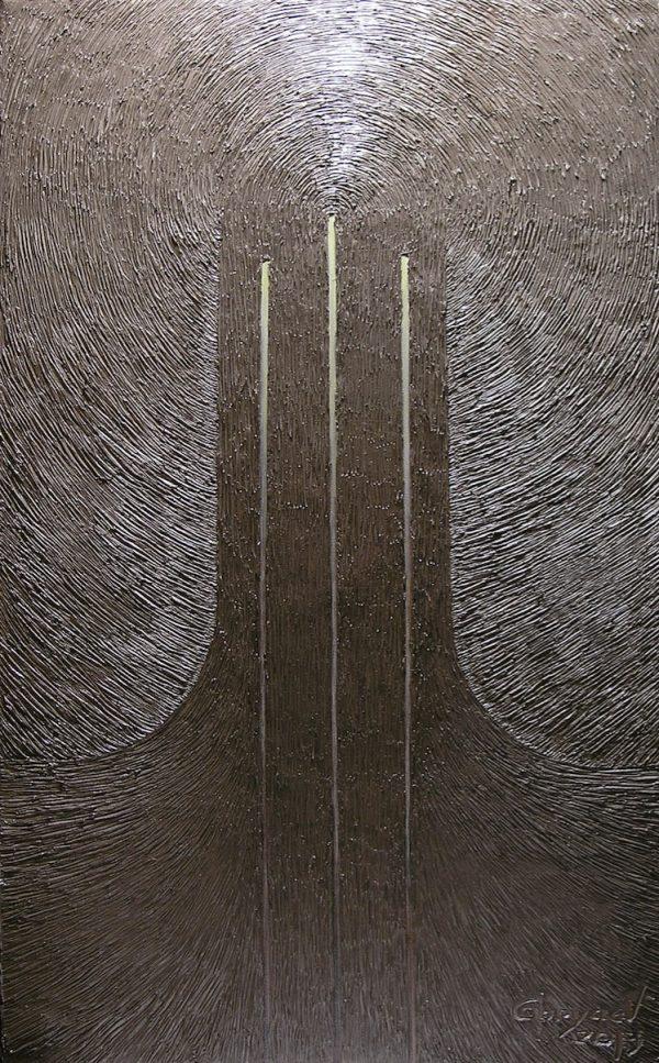 Symbolische Darstellung der Dreieinigkeit. Öl auf Leinwand.