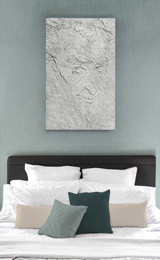 """Bild """"Don Kichot"""" im Schlafzimmer über das Bett."""